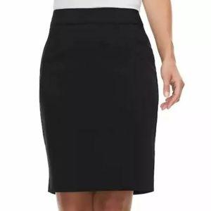 Apt 9 Black Pencil Skirt 4 NWT